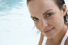 Attractive Young Woman In Pool Royalty Free Stock Photo