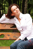 Attractive young woman. Portrait of beautiful woman outdoor royalty free stock images