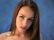 Attractive young woman portrait in studio Stock Photography
