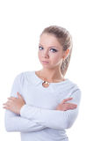 Attractive young woman posing in casual clothes Royalty Free Stock Photo