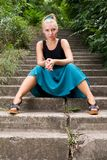 Attractive young woman posing outdoors Royalty Free Stock Images