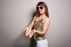 Attractive Young Woman Posing for Photography Stock Image