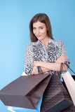 Attractive young woman is ready to buy everything Stock Image