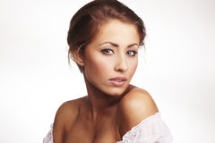 Attractive young woman relaxing Royalty Free Stock Photo