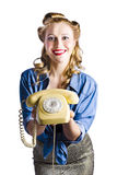 Retro receptionist Royalty Free Stock Images