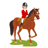 Attractive young woman ridding horse Royalty Free Stock Photography