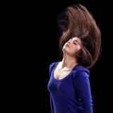 Attractive Young Woman's hair caught in Action Royalty Free Stock Photos