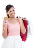Attractive Young Woman Shopper Royalty Free Stock Photography