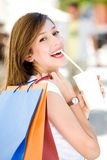 Attractive young woman shopping Stock Photography