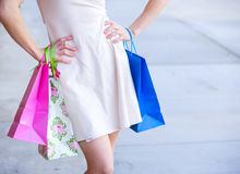 Attractive young woman Shopping Stock Images