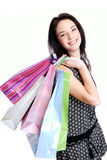 Attractive young woman with shopping bags Royalty Free Stock Images