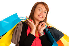 Attractive young woman in shopping Royalty Free Stock Image