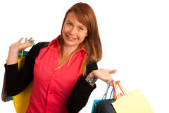 Attractive young woman in shopping Stock Images