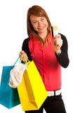 Attractive young woman in shopping Stock Photo