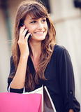 Attractive young woman shopping at the mall Royalty Free Stock Image