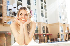 Attractive Young Woman Smiling Royalty Free Stock Photography