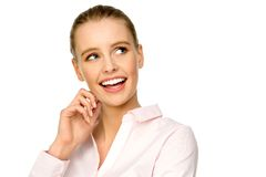 Attractive young woman smiling Royalty Free Stock Images