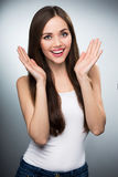 Attractive young woman smiling Stock Photography