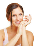Attractive young woman smiling Royalty Free Stock Photos