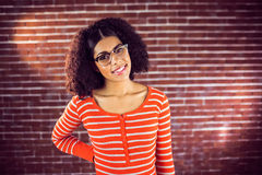 Attractive young woman smiling Royalty Free Stock Photo