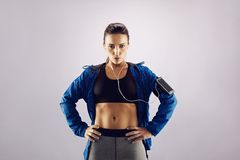 Attractive young woman in sportswear Royalty Free Stock Image