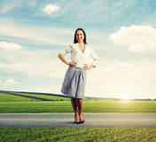 Attractive young woman standing Stock Photos