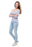 Attractive young woman standing Royalty Free Stock Photo