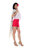 Attractive young woman in stylish dress Royalty Free Stock Photo