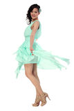 Attractive young woman in stylish dress Stock Photos