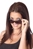 Attractive young woman with sunglasses Royalty Free Stock Photos