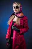attractive young woman in sunglasses. Royalty Free Stock Photography