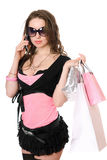 Attractive young woman talking on the phone Stock Photo