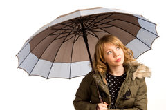 Attractive young woman with an umbrella Stock Photo