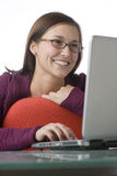 Attractive young woman using laptop Royalty Free Stock Photo