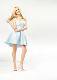 Attractive young woman wearing candy dress Stock Photo