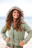 Attractive Young Woman Wearing a Coat Royalty Free Stock Photo