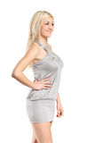 An attractive young woman wearing dress posing Royalty Free Stock Photo