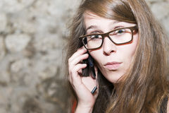 Attractive young woman wearing glasses Stock Photography