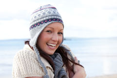 Attractive young woman wearing a hat Royalty Free Stock Photography