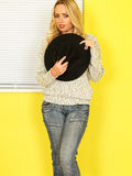 Attractive Young woman Wearing Jeans and a Jumper Stock Photos