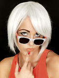 Attractive Young Woman Wearing Sunglasses Royalty Free Stock Image
