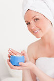 Attractive young woman wearing a towel Royalty Free Stock Image