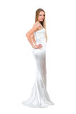 Attractive young woman in wedding dress Stock Photo