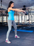 Attractive young woman working out at gym Stock Photography