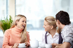 Attractive Youth In Cafe Stock Photos