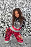 Attractive zebra girl Stock Photo