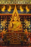 Attractively golden Buddha Stock Photo
