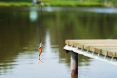 Attrait en plastique de pêche pour tourner, repos actif Photos stock