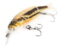 Attrait en plastique de pêche (wobbler) d'isolement sur le blanc Images stock