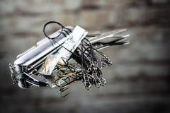 Attrait mélangé de pêche et couteau militaire de Suisse Photos stock